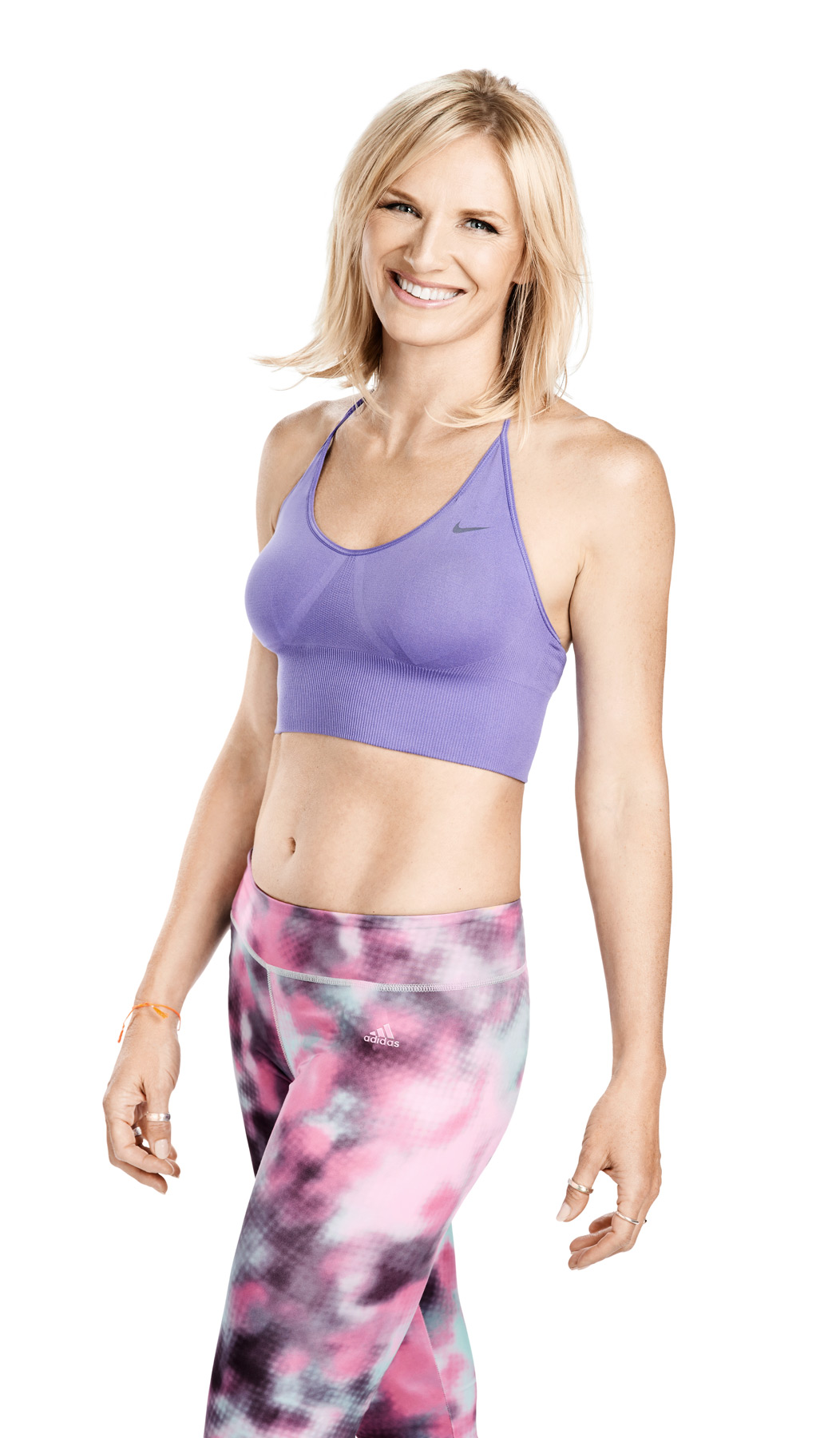 Jo Whiley in sportswear for Your Fitness