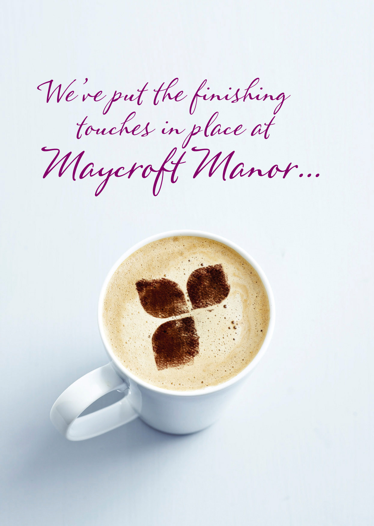 Coffee advert for Hallmark Care Homes