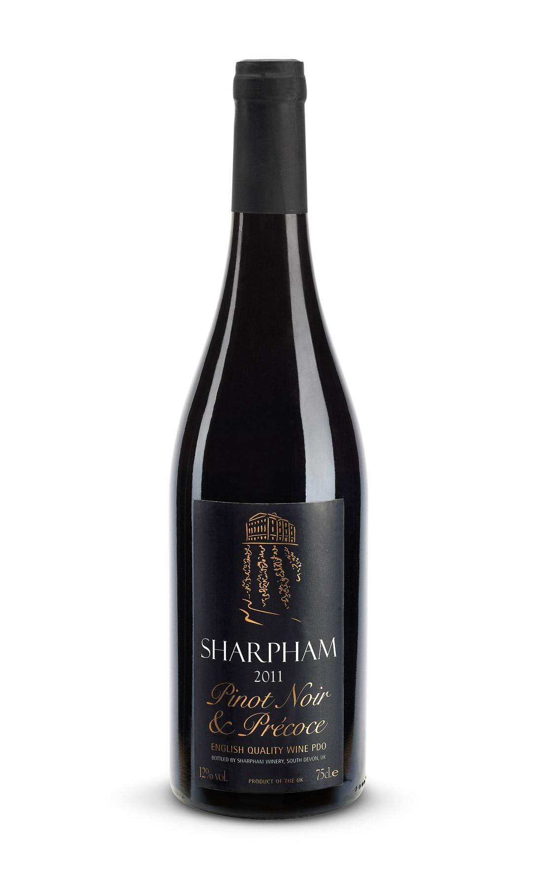 Sharpham Pinot Noir bottle shot