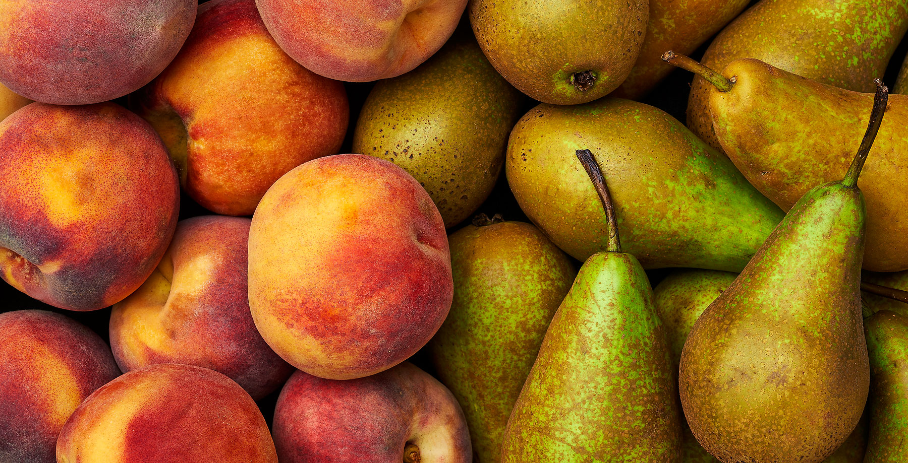 Peaches and pears