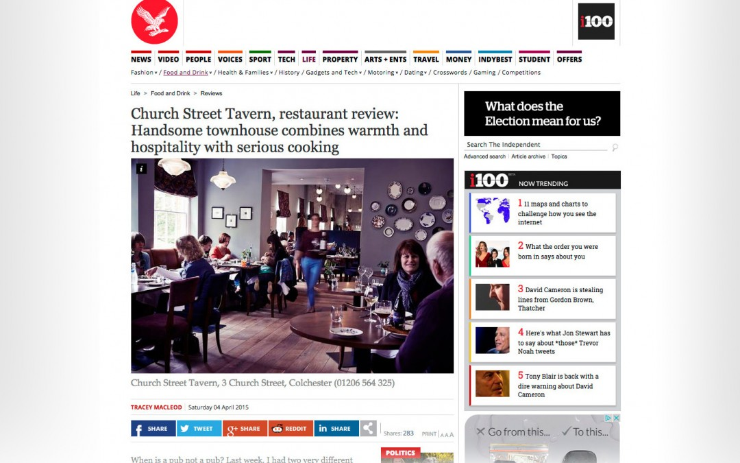 Spotted! Our photography in the Independent