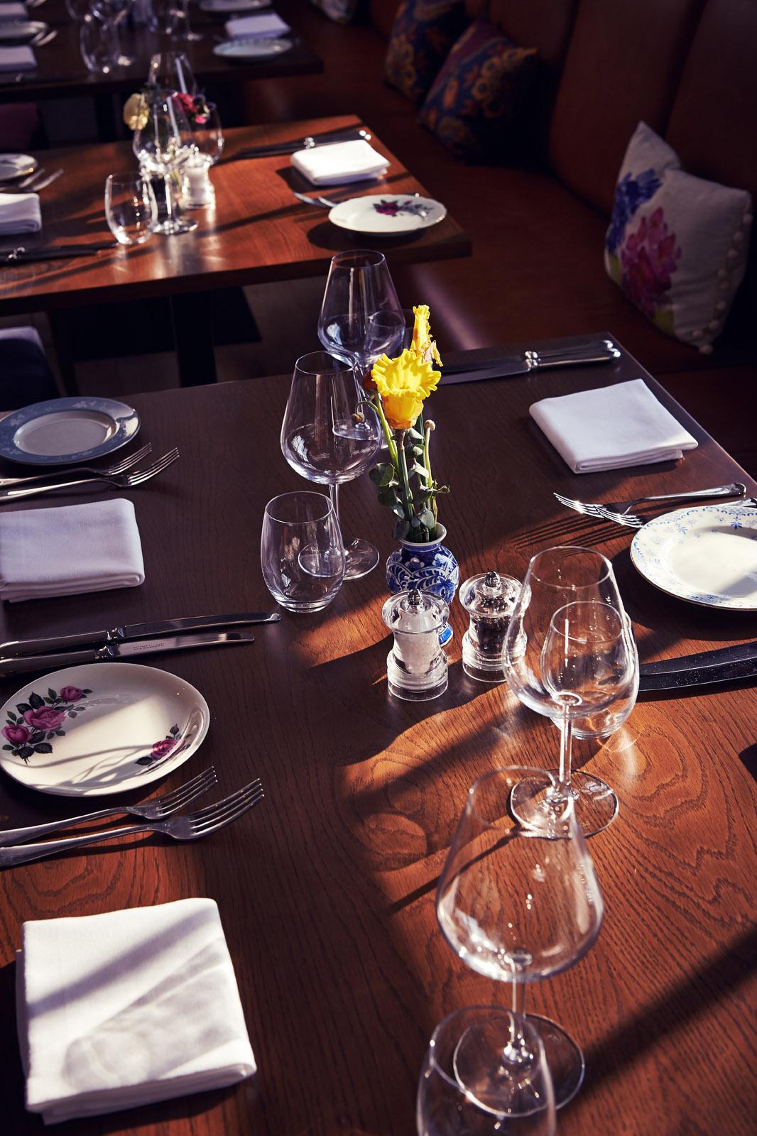 Church Street Tavern sunny table