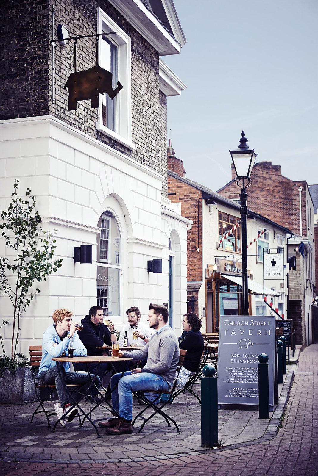 Church Street Tavern outside tables