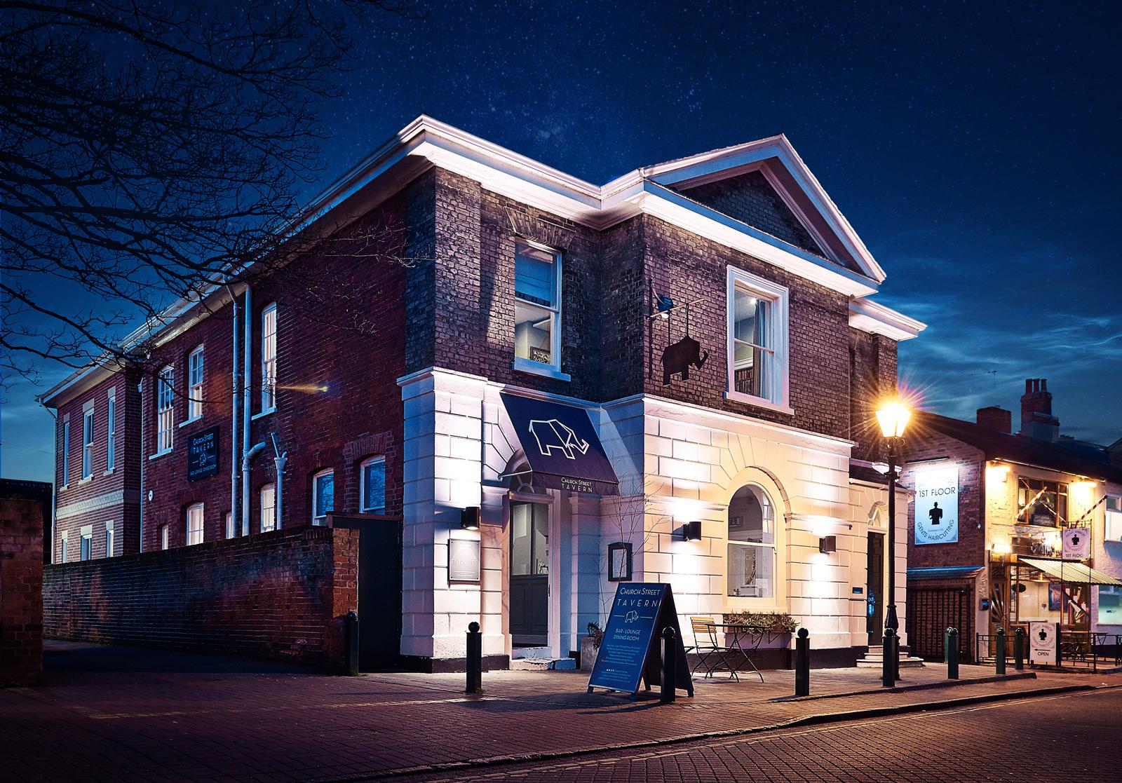 Church Street Tavern restaurant and bar at night