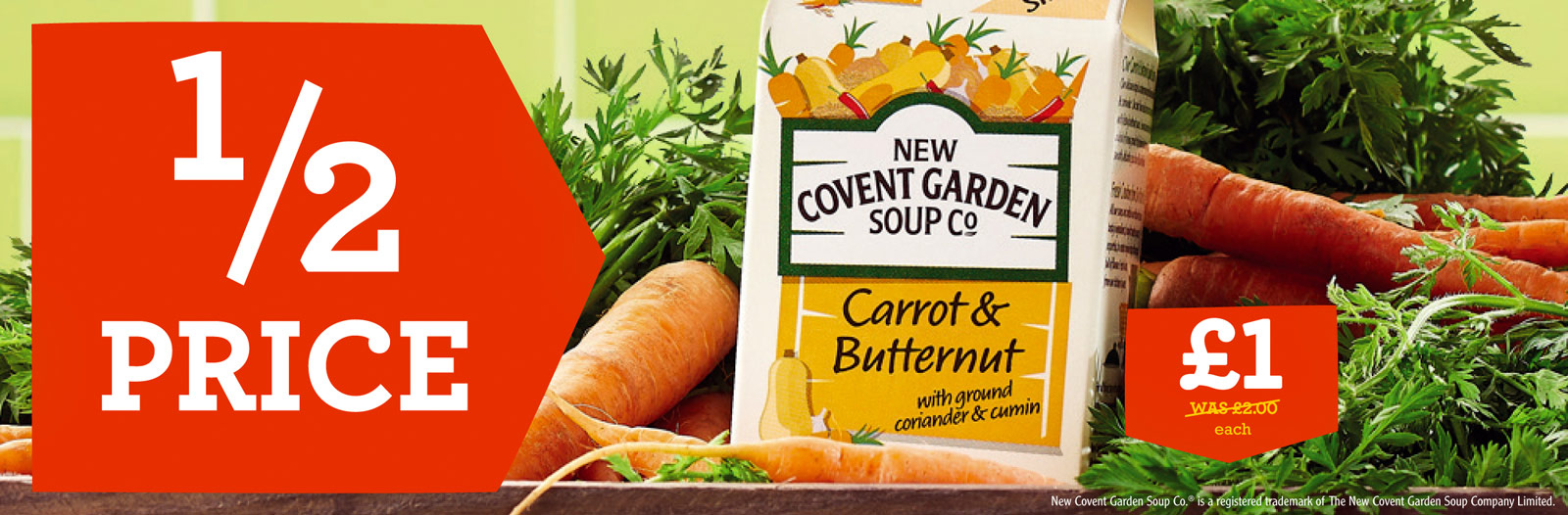 New Covent Garden Soup Co promo advert