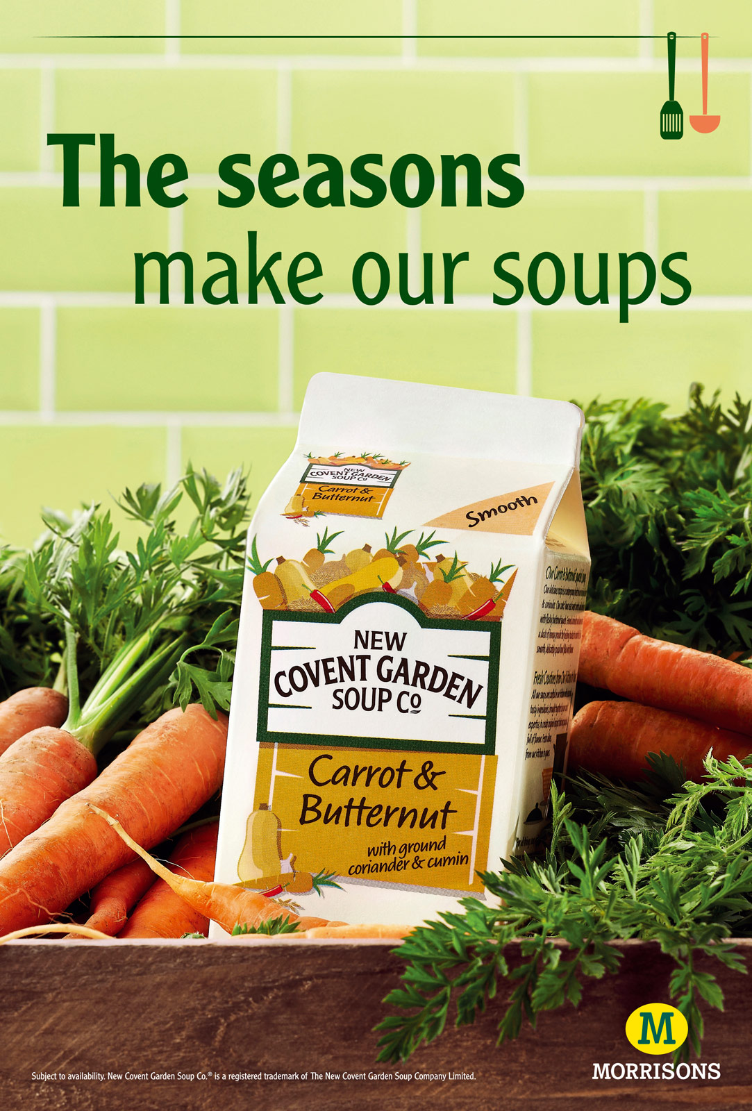 New Covent Garden Soup Co Morrisons advert