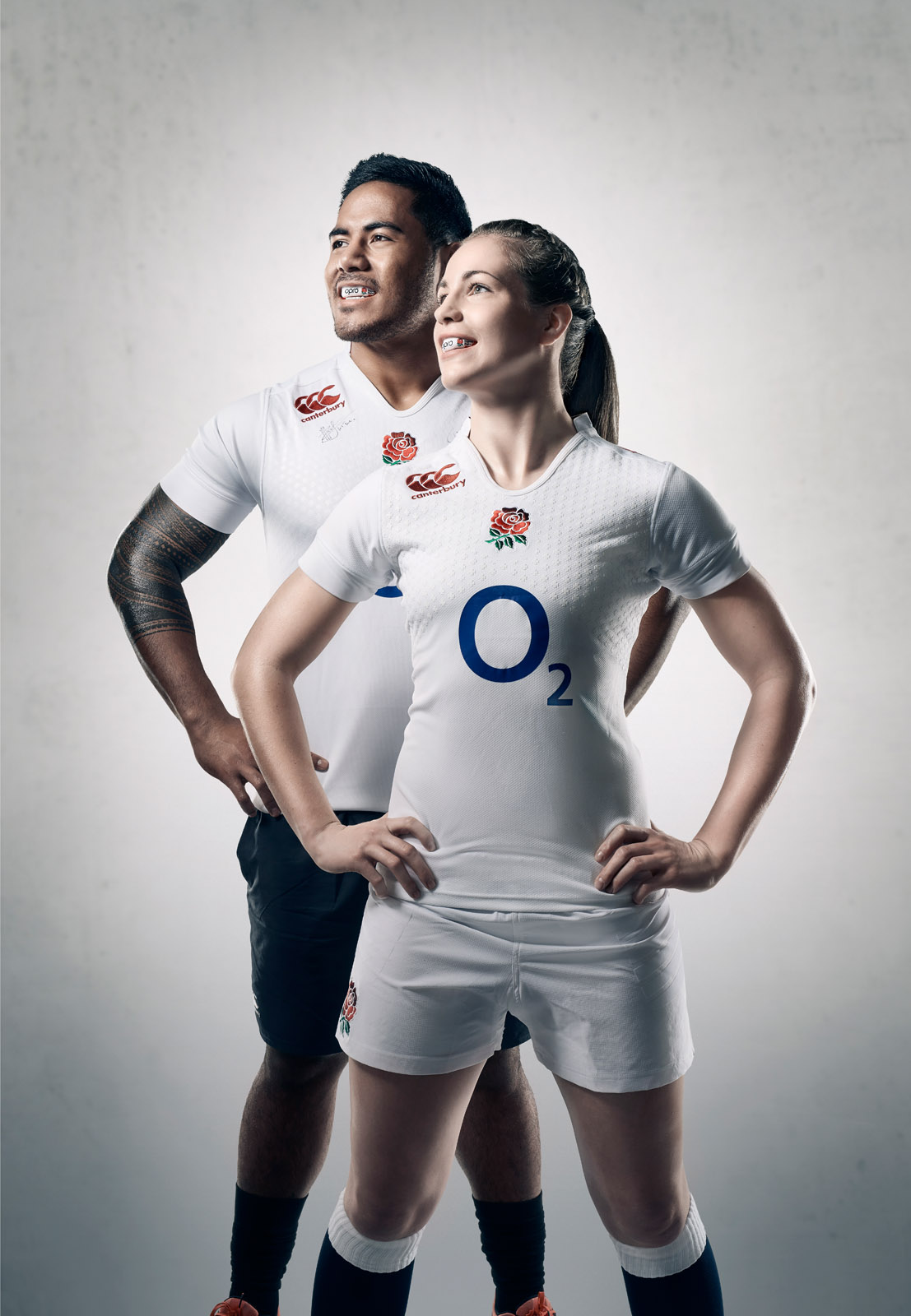 Manu Tuilagi and Emily Scarratt photographed by CliQQ Photography