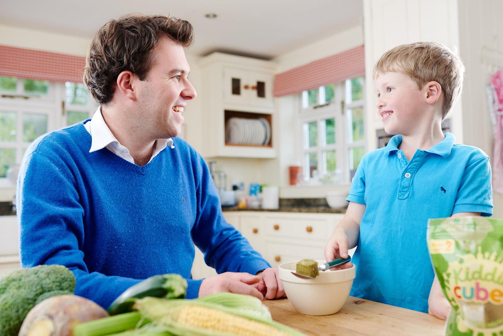 Kiddie Cubes kitchen family lifestyle shoot