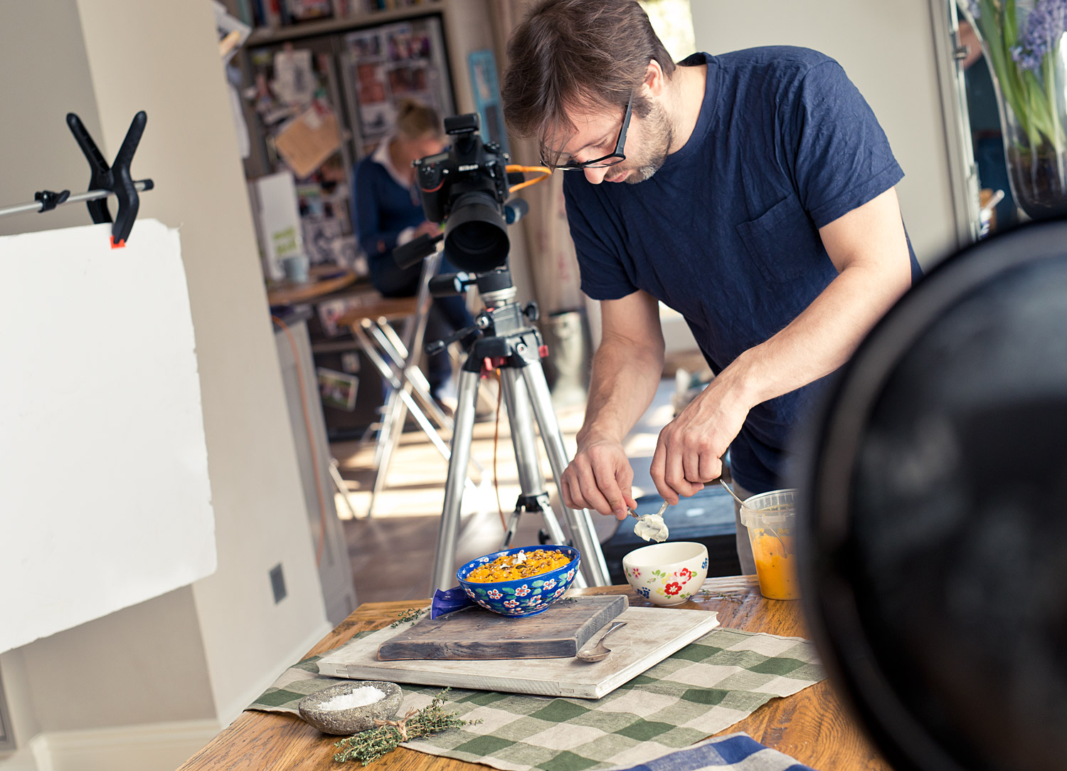 Behind the scenes on our food shoot with Munchy Seeds
