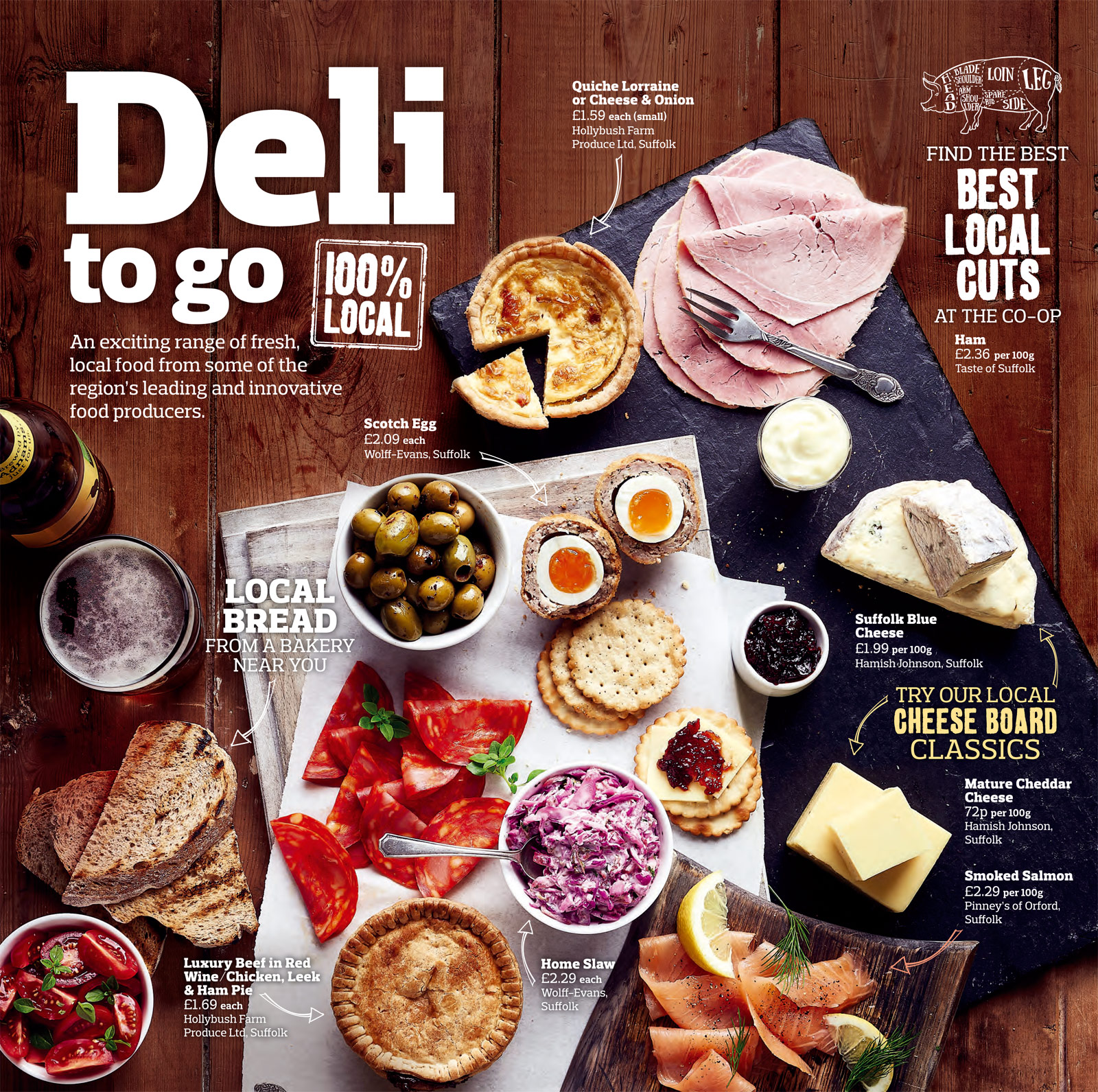 Deli selection from local food producers