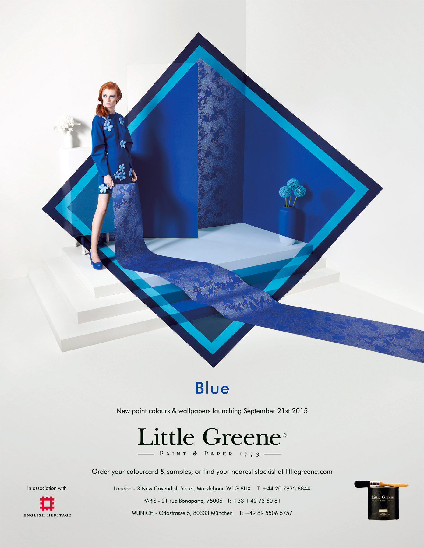 Little Greene Blue Collection advert
