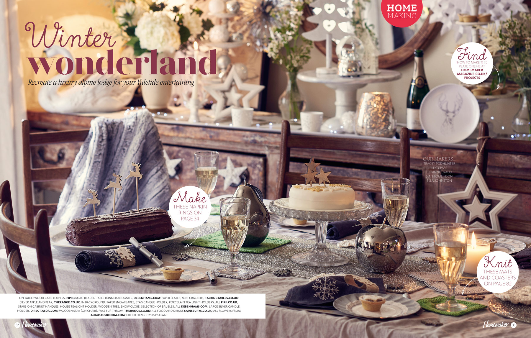 A warm and cosy alpine lodge inspired Christmas dining table