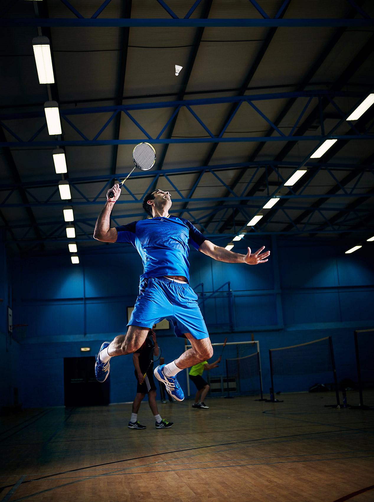 Badminton jumping smash