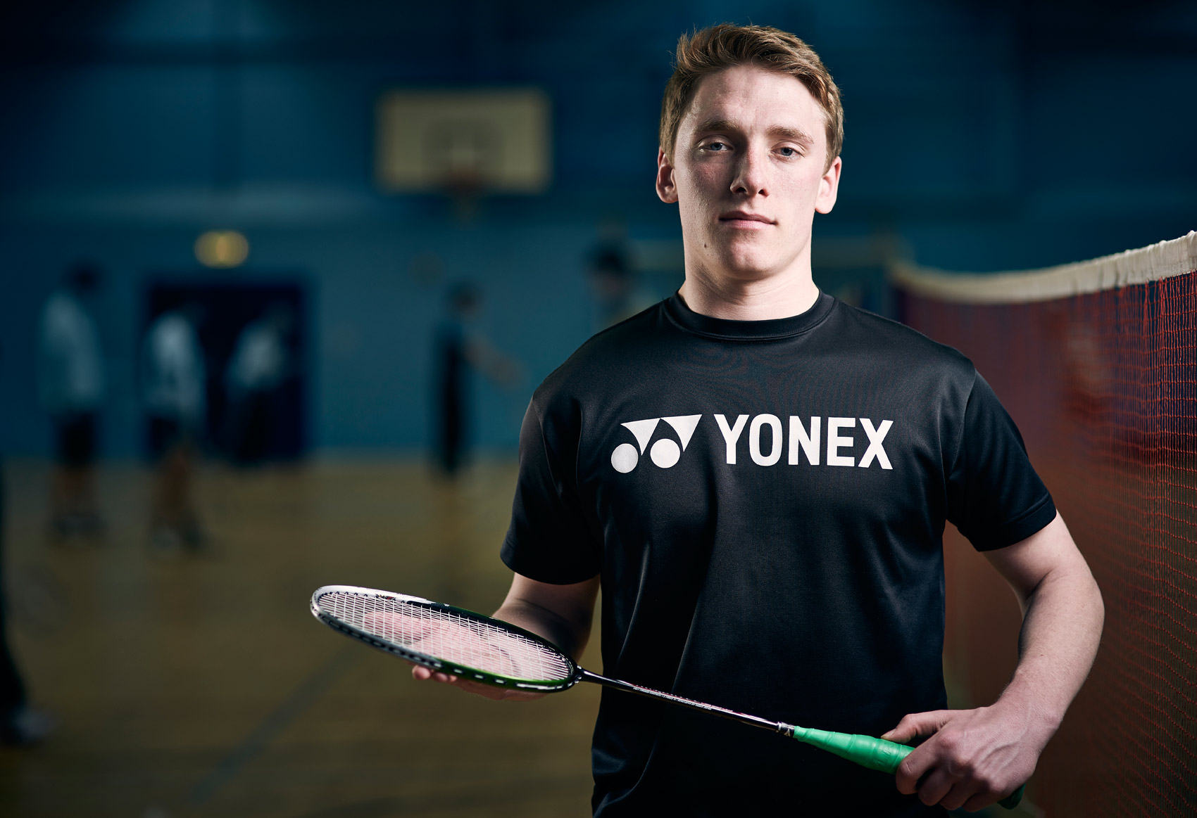 Badminton player portrait
