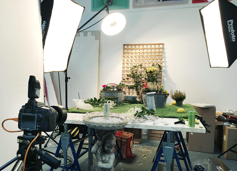 Folkingtons Garden Range behind the scenes on set