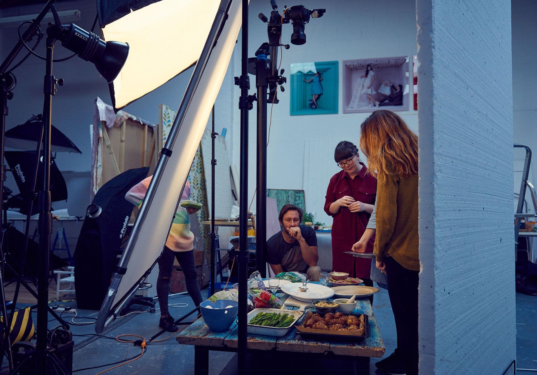 Behind the scenes on our food magazine cover shoot