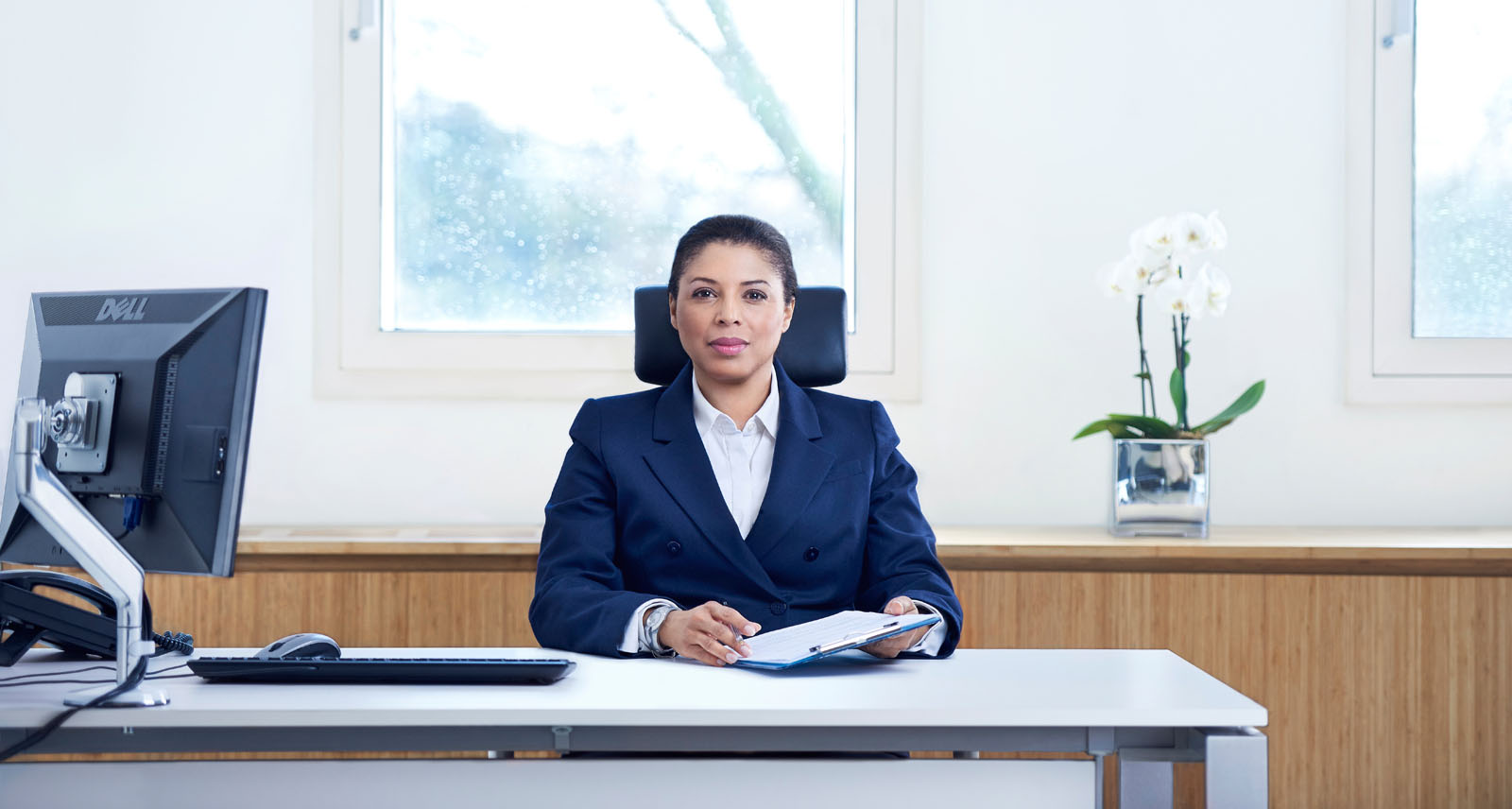 Consultant in her office