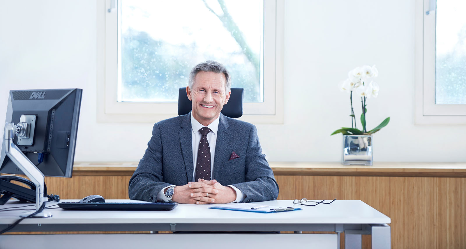 Consultant at his desk