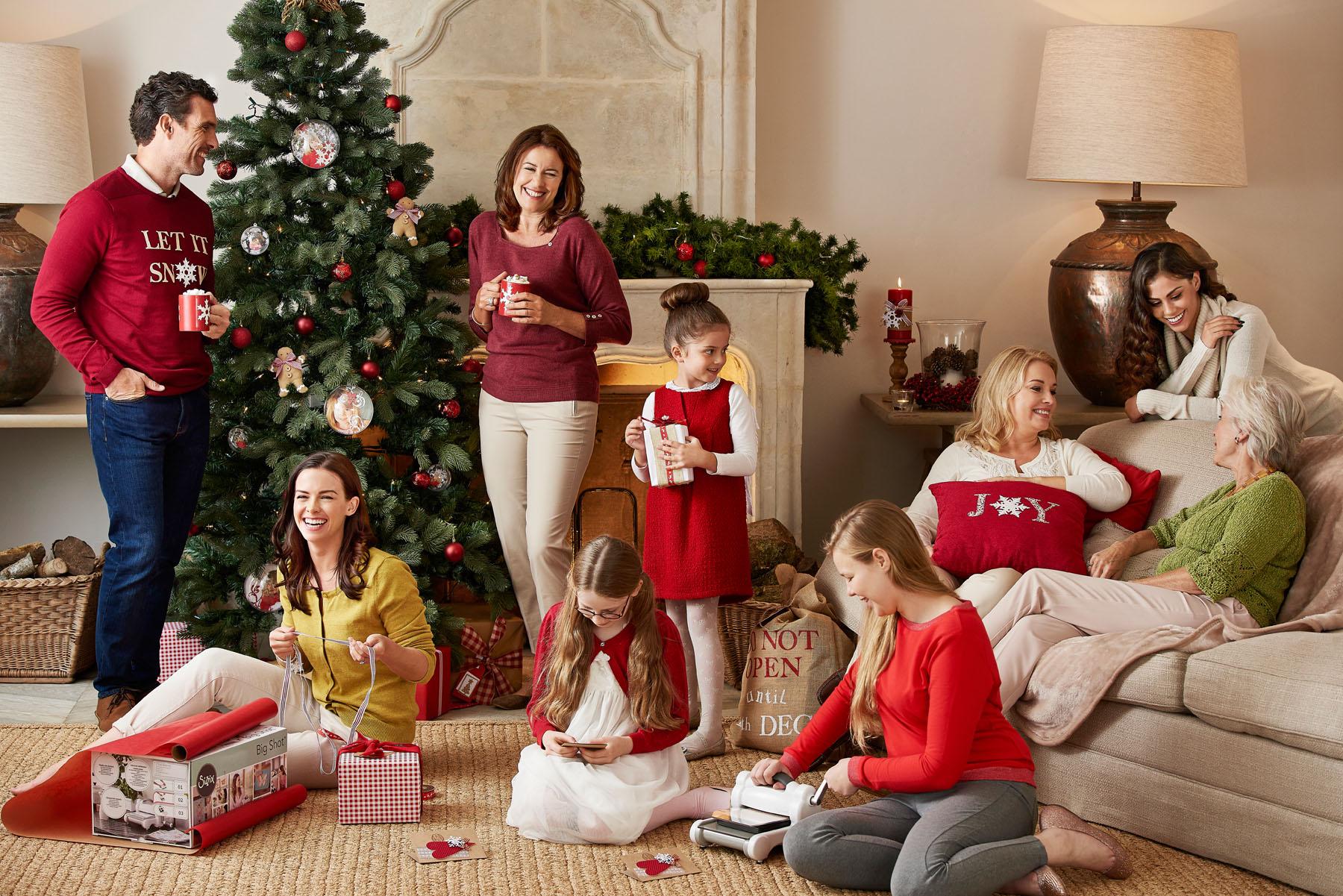 Big family Christmas scene