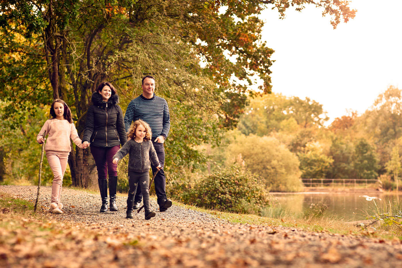 A family walking in Essex Parks