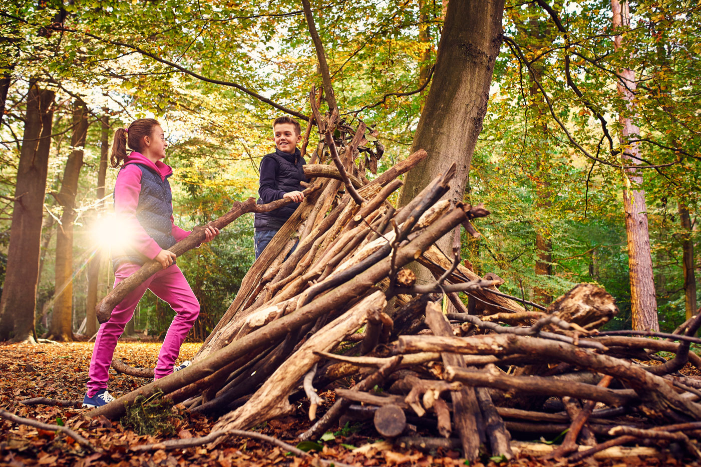 Den building at Essex Parks