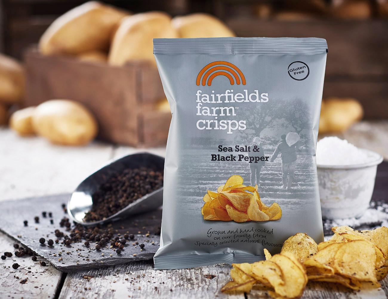 Fairfields Farm Crisps food product photoshoot