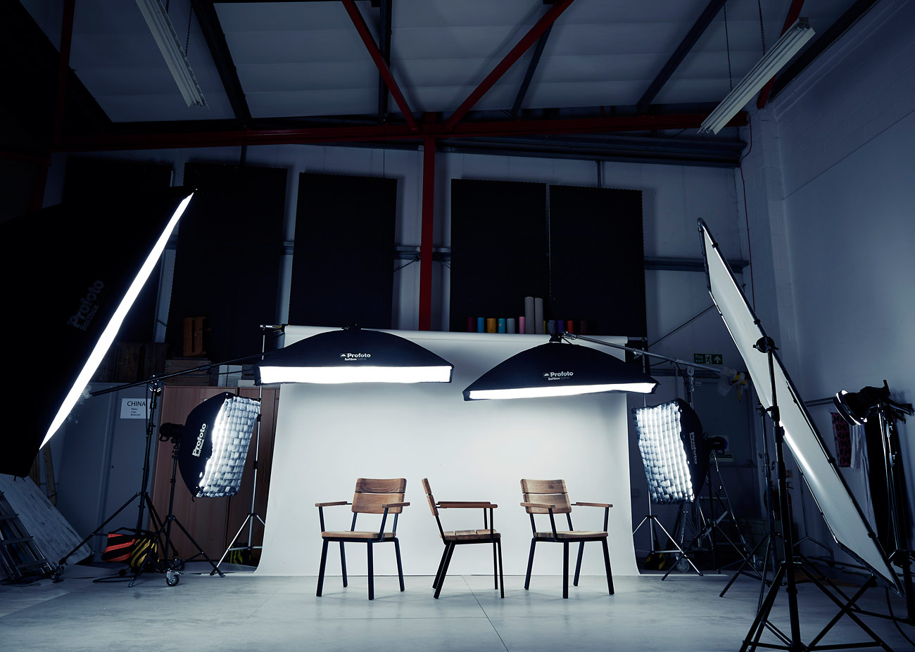 Behind the scenes on a furniture photoshoot for Barlow Tyrie