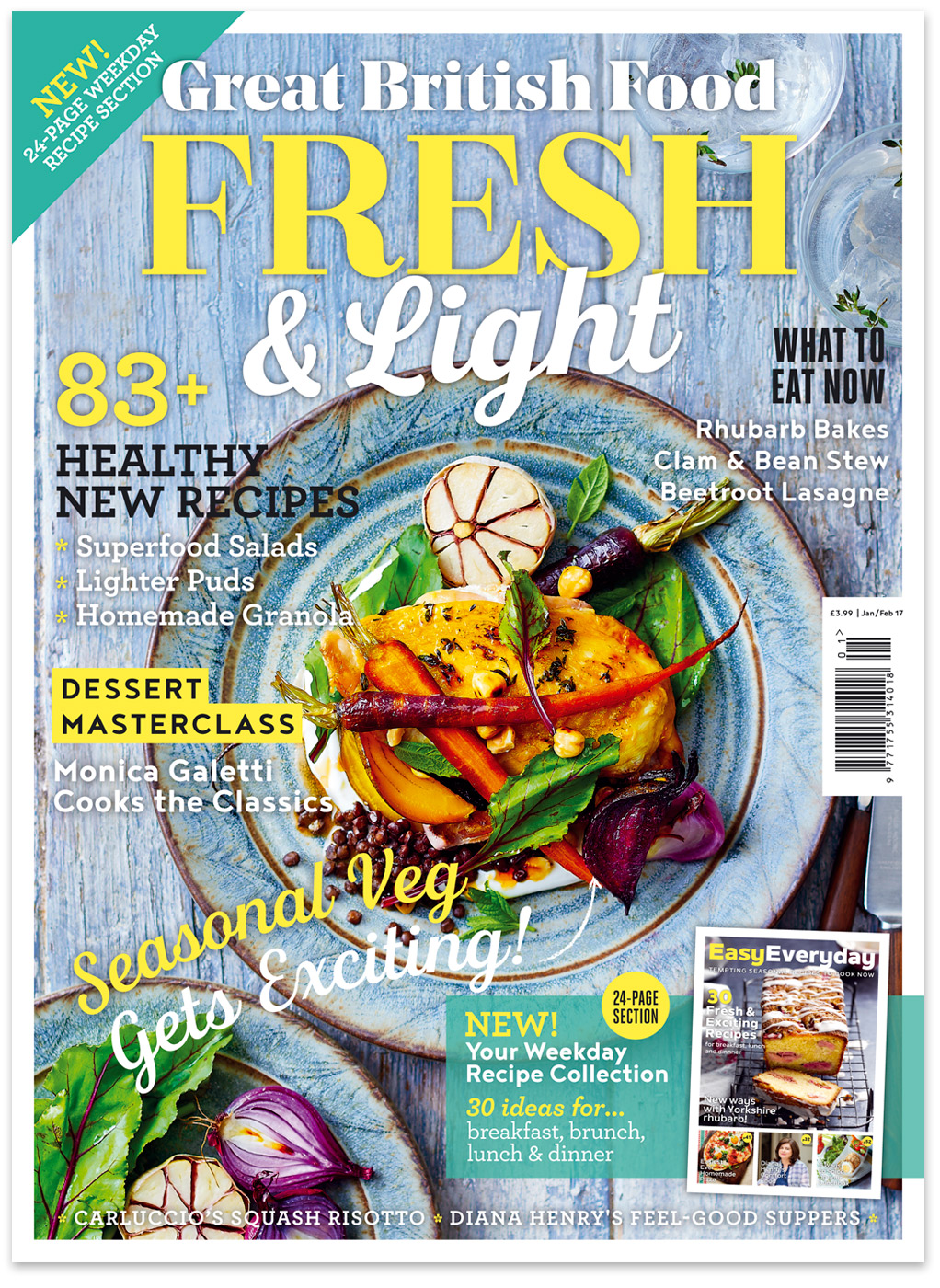 Great British Food Jan/Feb 17 cover by CliQQ Photography
