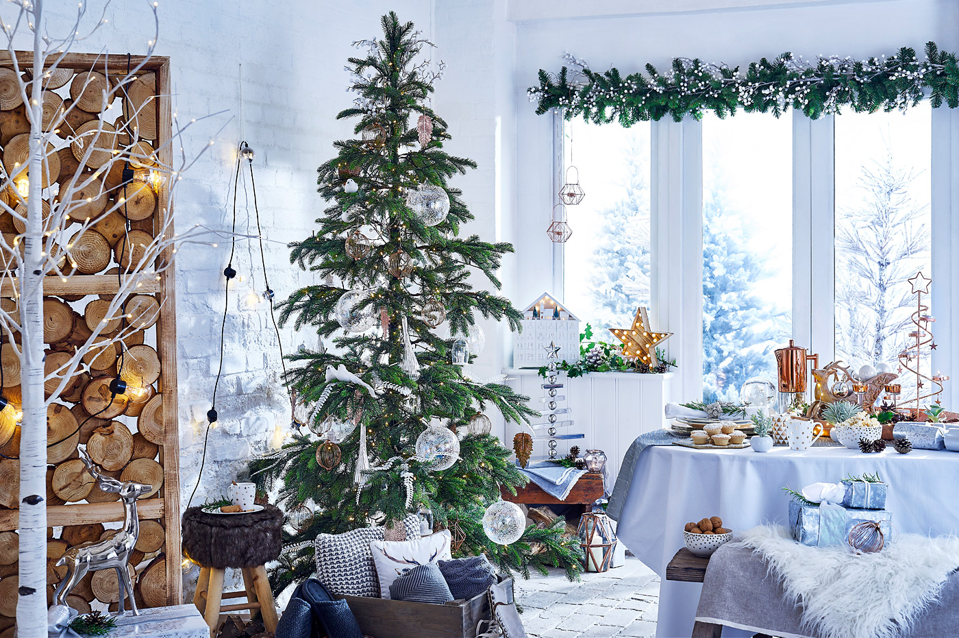 Nordic Christmas scene for Notcutts