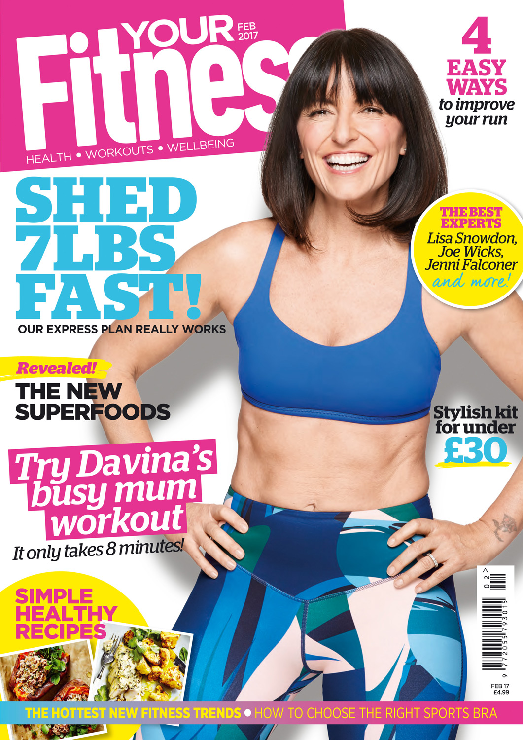 Davina McCall cover for Your Fitness magazine, photographed by Oliver Suckling at CliQQ