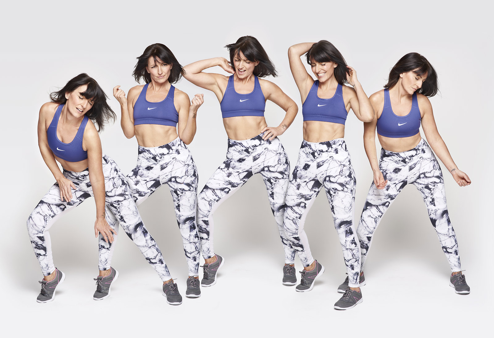 Davina McCall for Your Fitness magazine, photographed by Oliver Suckling at CliQQ