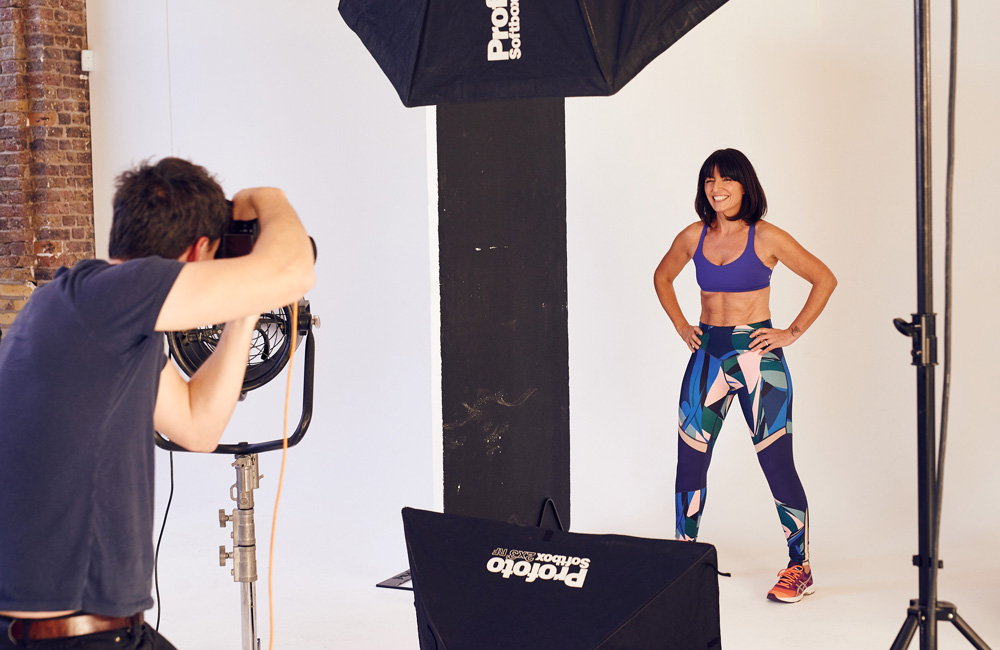 Photoshoot with Davina McCall