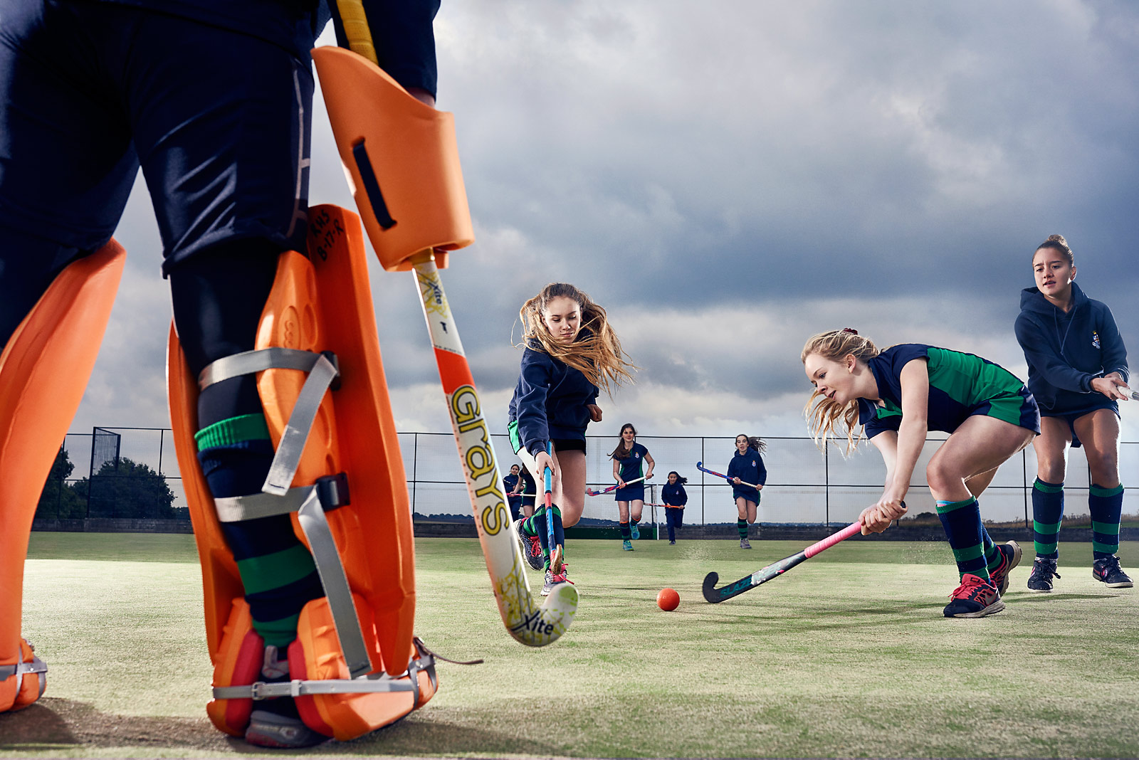 Girls hockey at the Royal Hospital School
