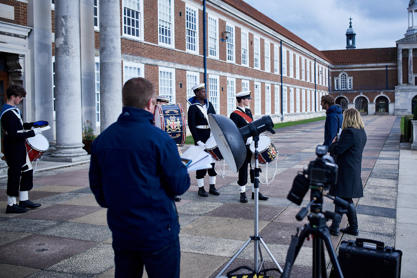 Behind the scenes on the military heritage part of our Royal Hospital School photoshoot