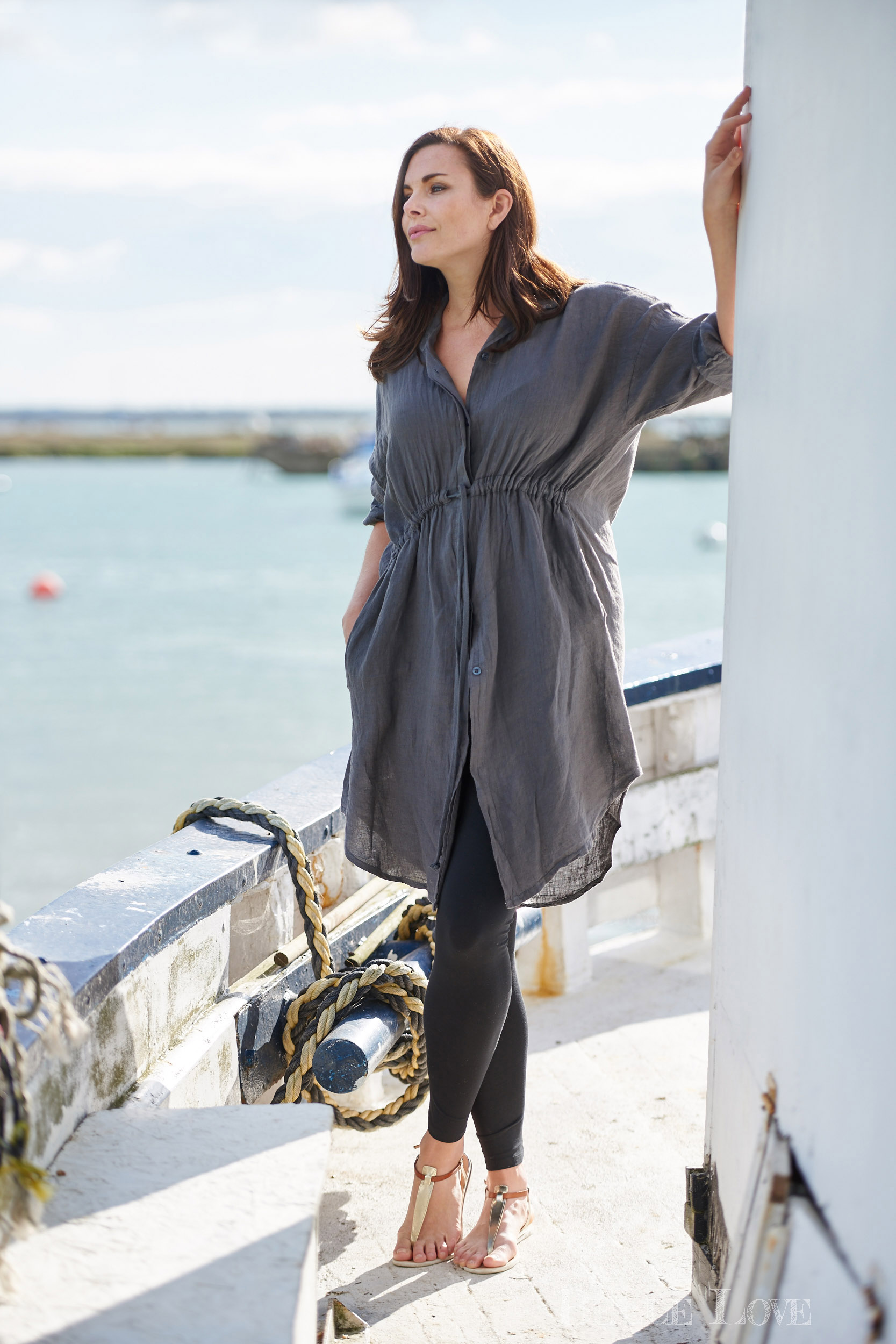 Linen fashion shoot for Belle Love Clothing