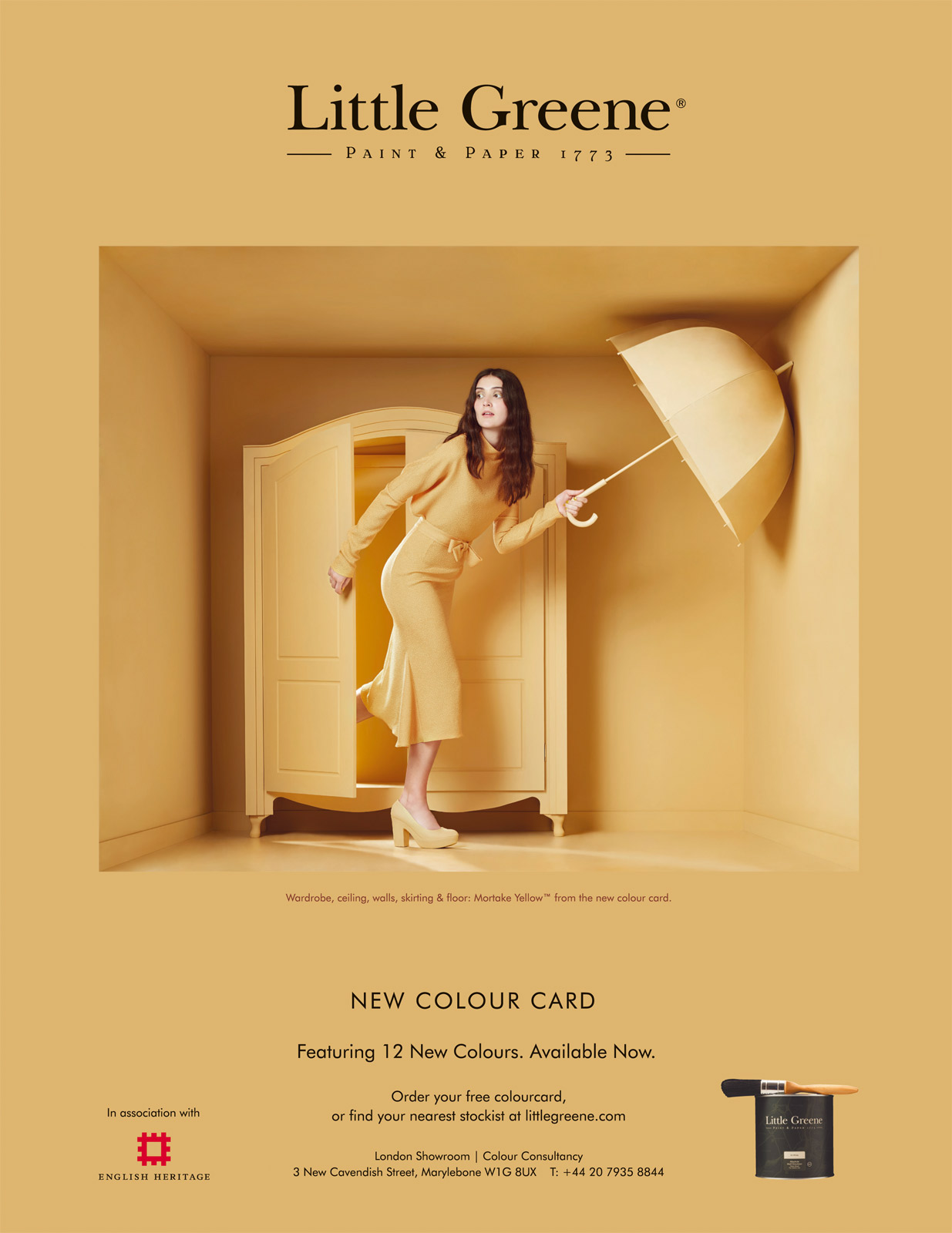 Paint colour advertising photography by CliQQ for Little Greene