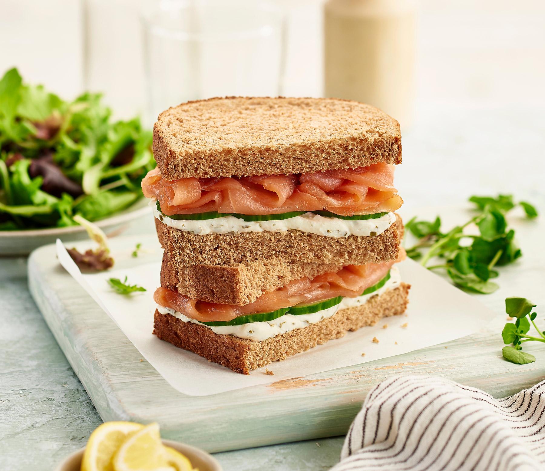 Philadelphia, and smoked salmon sandwich