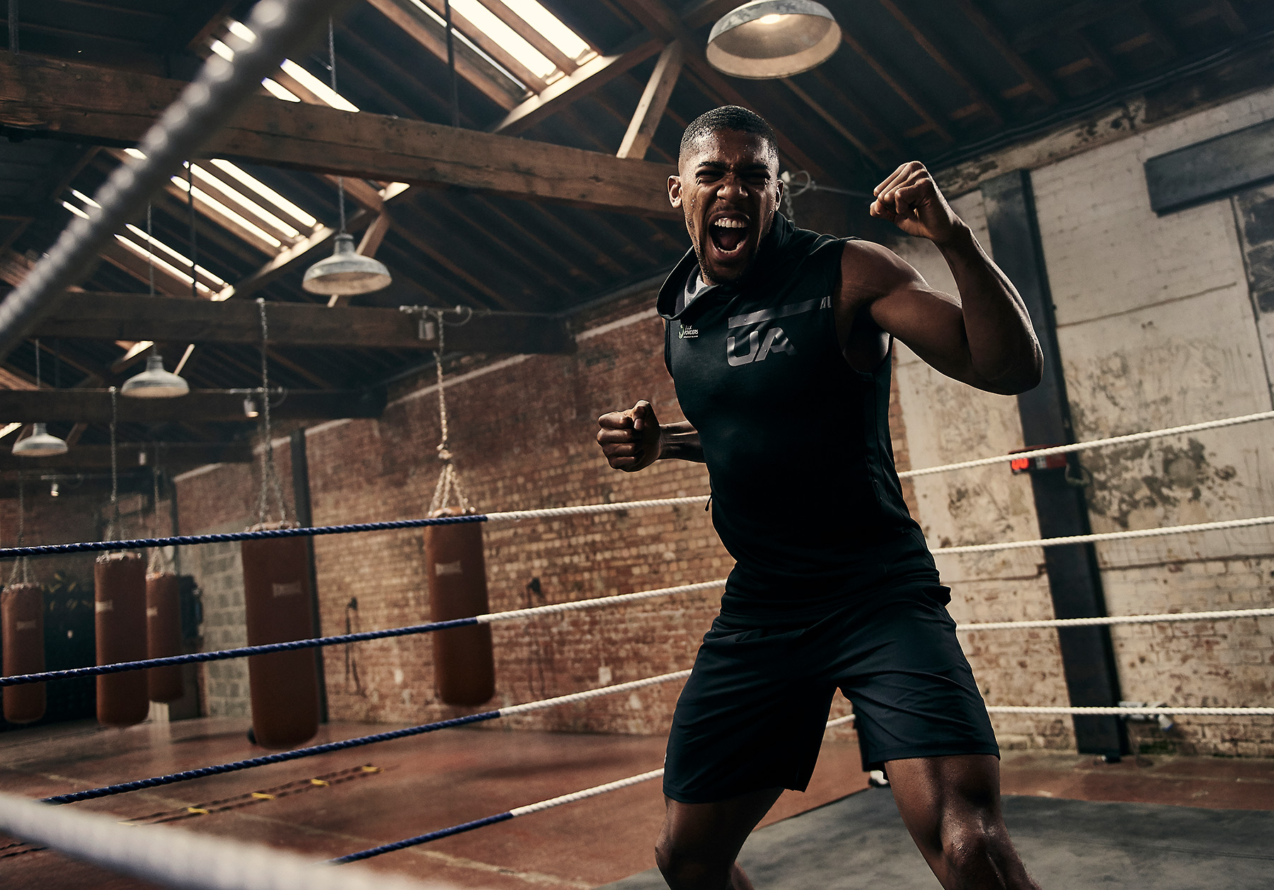 In the ring with Anthony Joshua