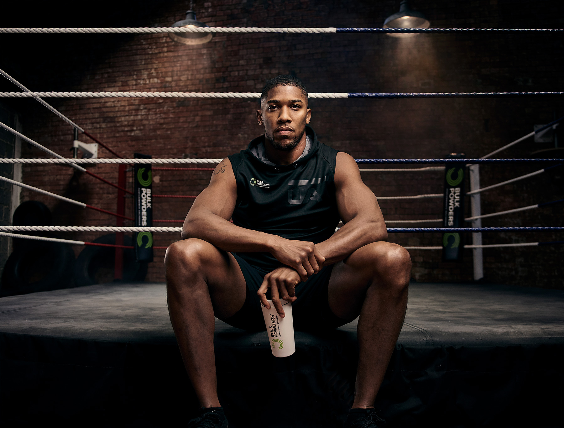 Anthony Joshua shot for Bulk Powders by CliQQ Photography