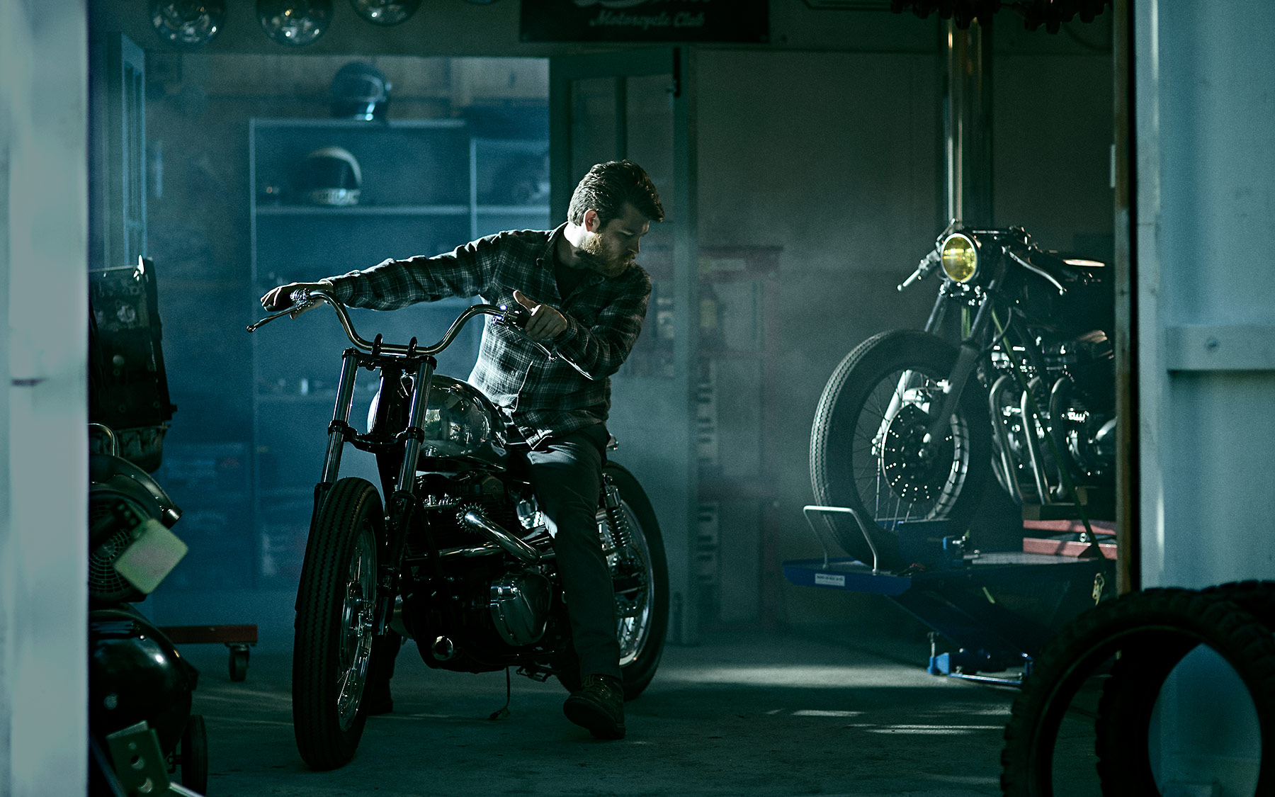 Sam at Inglorious Motorcycles