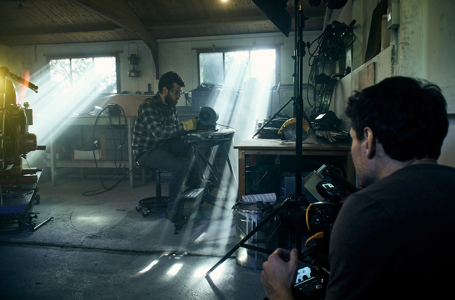 Inglorious Motorcycles photoshoot BTS