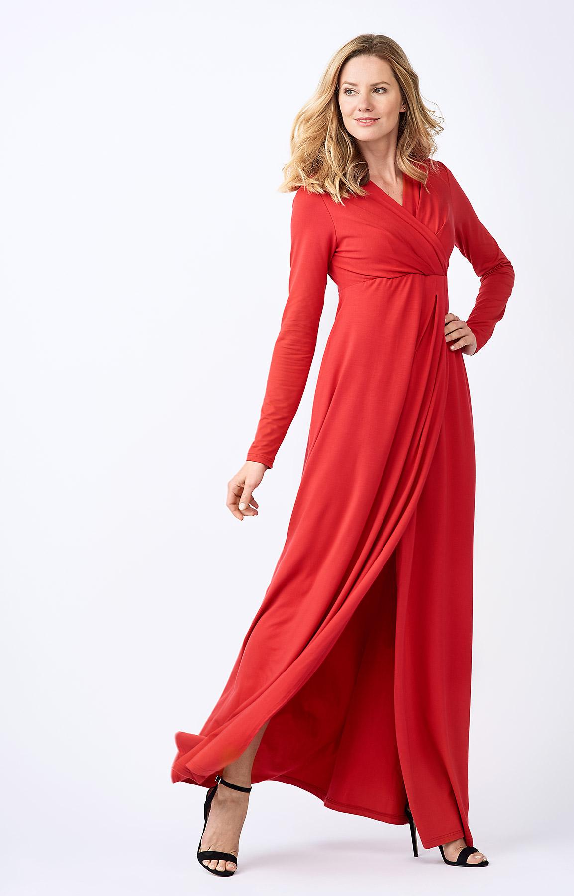 The Adélie Ayda dress in red