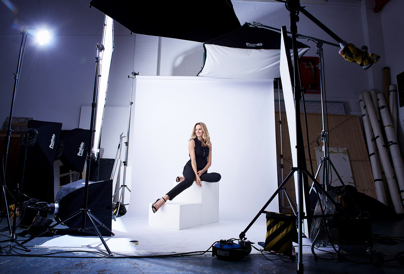 Fashion shoot behind the scenes