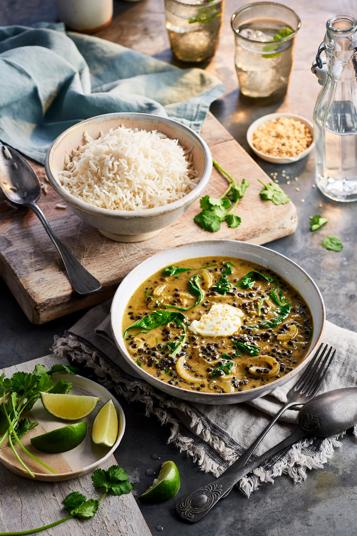 Philadelphia curry and rice dish by CliQQ Studios