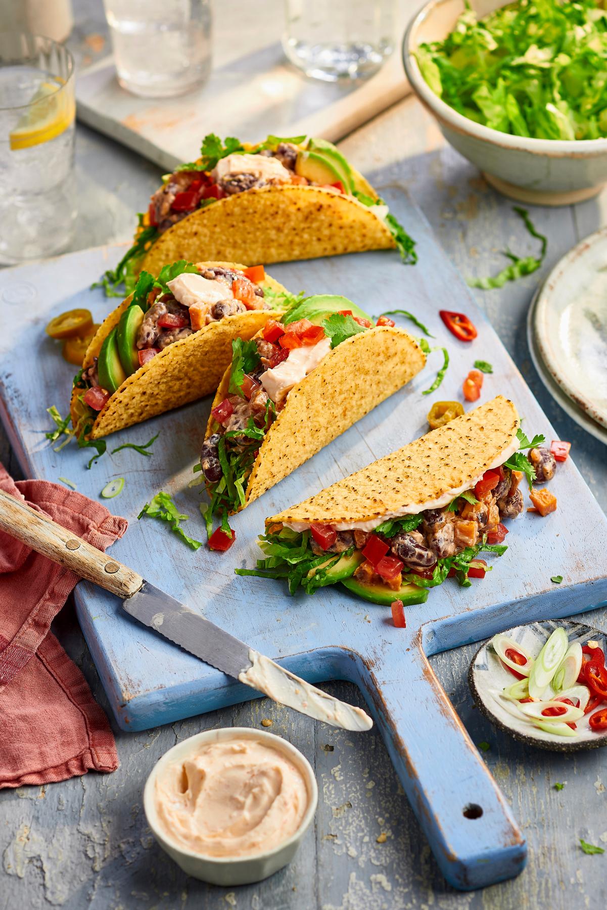 Philadelphia Recipe taco dish by CliQQ Studios