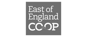 East of England Co-op logo in grey