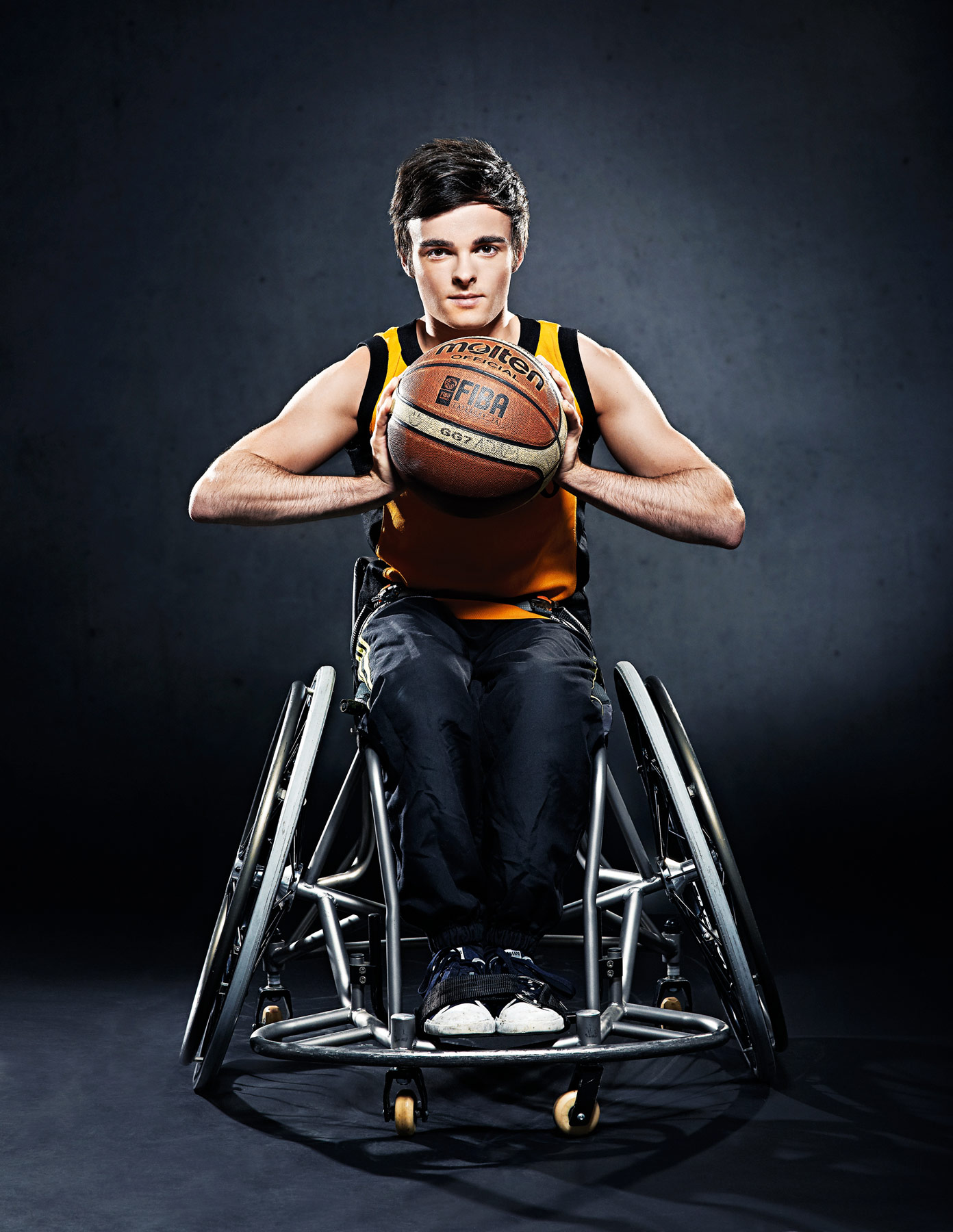 Wheelchair basketball player shot for the cover of Access magazine