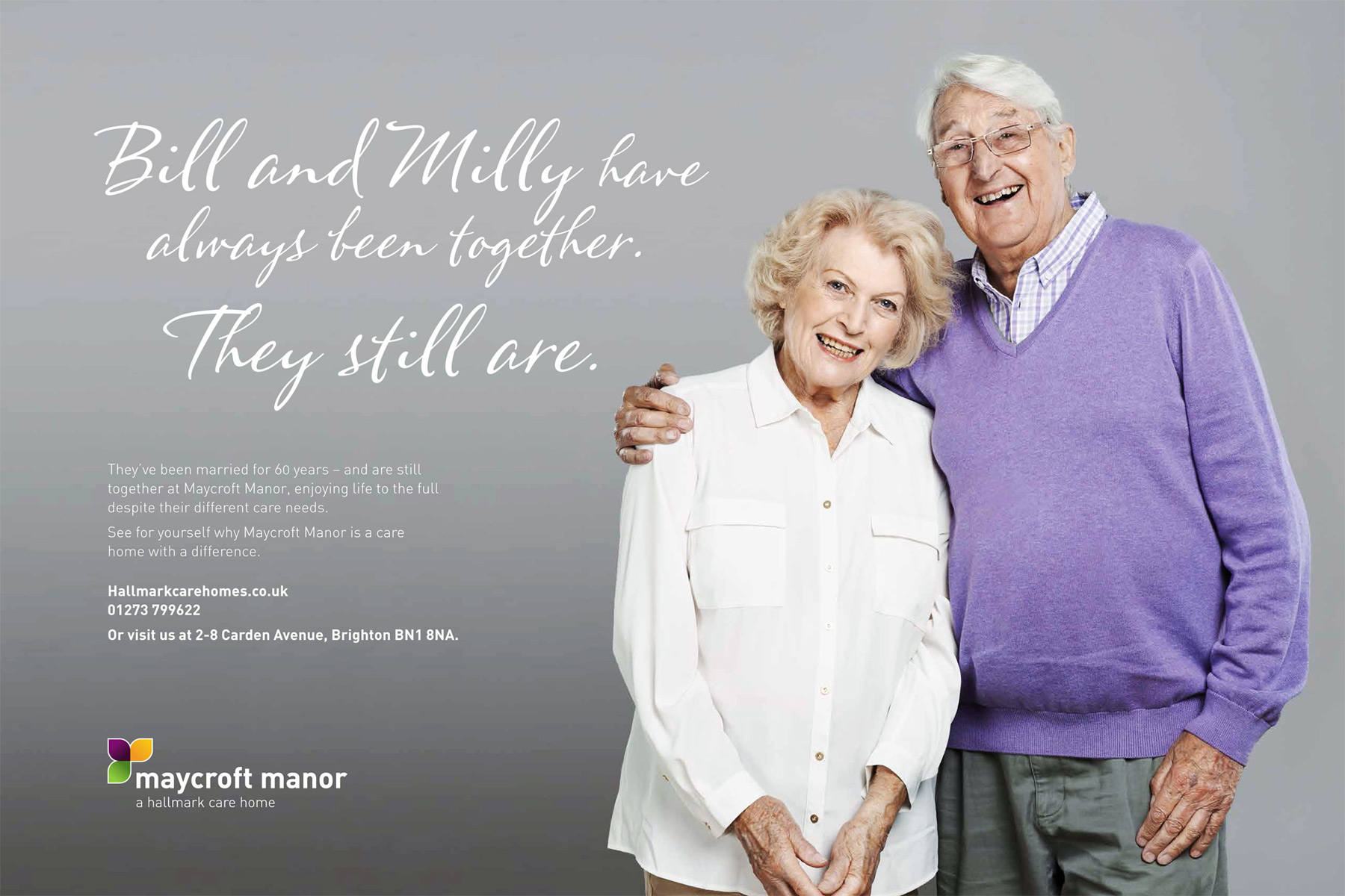 One of the adverts for Hallmark Care Homes