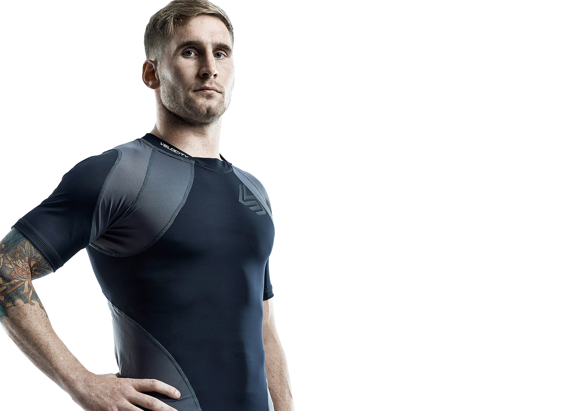 Sam Tomkins photographed for Shock Doctor