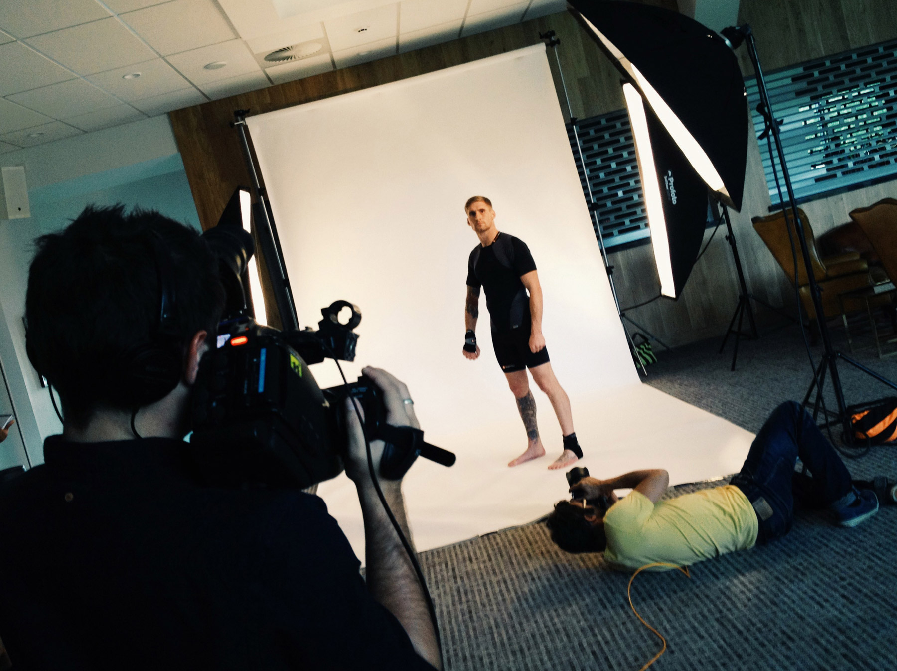 Behind the scenes with CliQQ Photography and Sam Tomkins